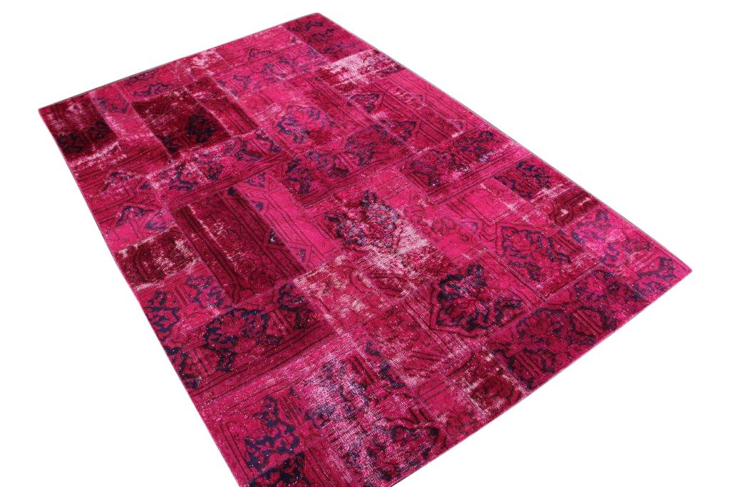 Patchwork vloerkleed, roze, 300cm x 200cm