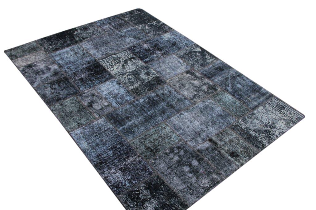 Patchwork kleed grijs/zwart 240cm x 170cm, no 51269