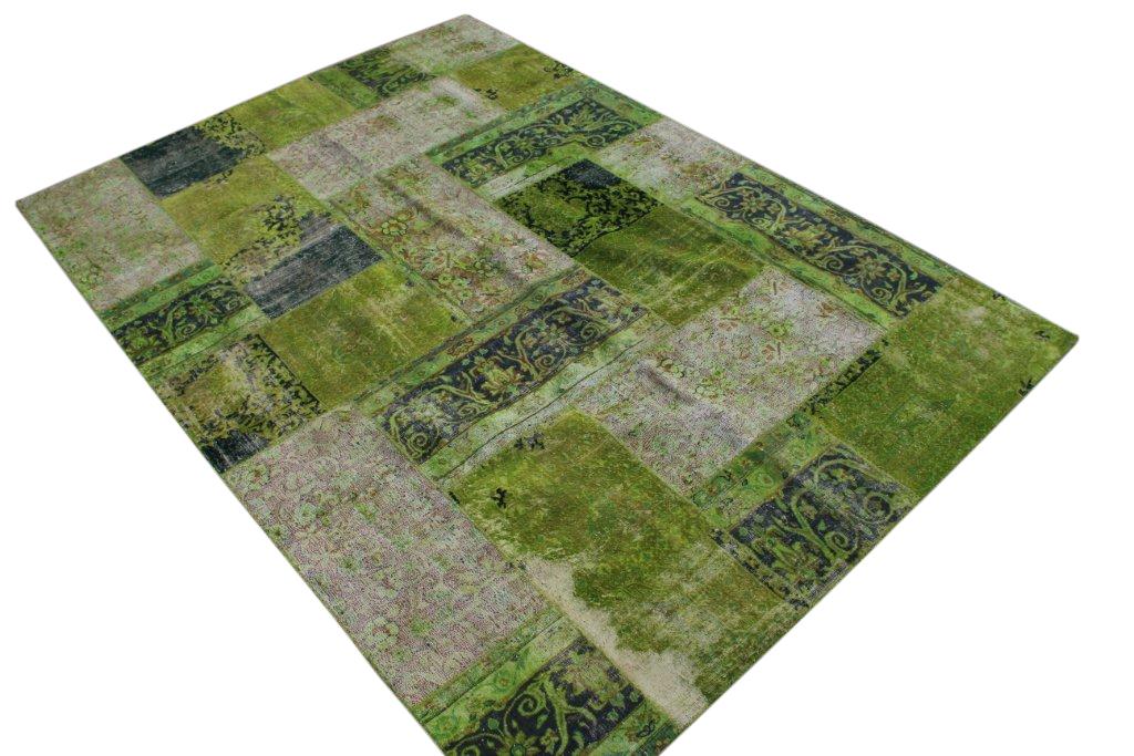 Patchwork vloerkleed, groen, 300cm x 211cm