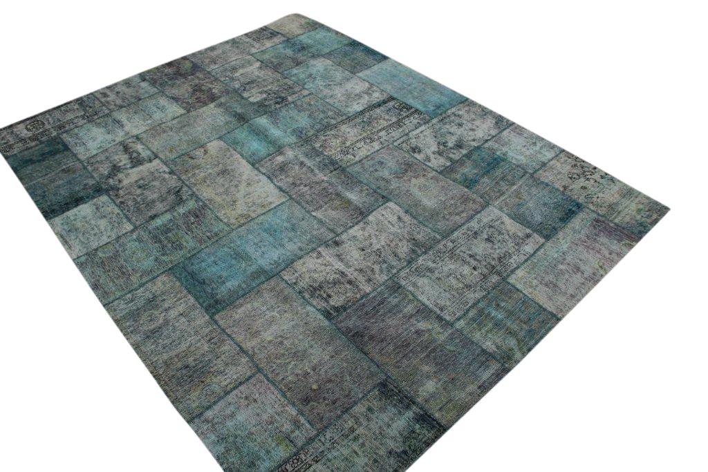 Patchwork kleed groen 310cm x 241cm, no 51278b