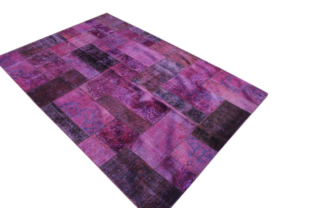 Patchwork kleed roze 308cm x 204cm, no 51293 gemaakt uit oude perzen.