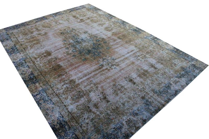 Recoloured vintage vloerkleed nr 51325 (392cm x 281cm)