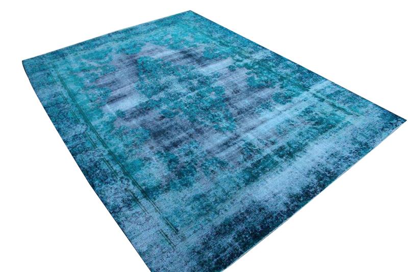 Blauw vintage vloerkleed nr 51650 ( 367cm x 268cm)