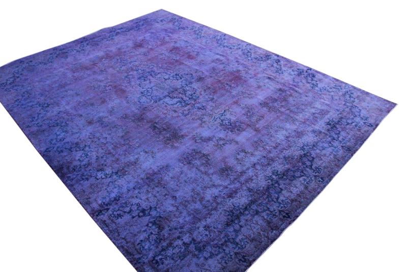 Paars met blauw vintage vloerkleed nr 51653 ( 389cm x 290cm)