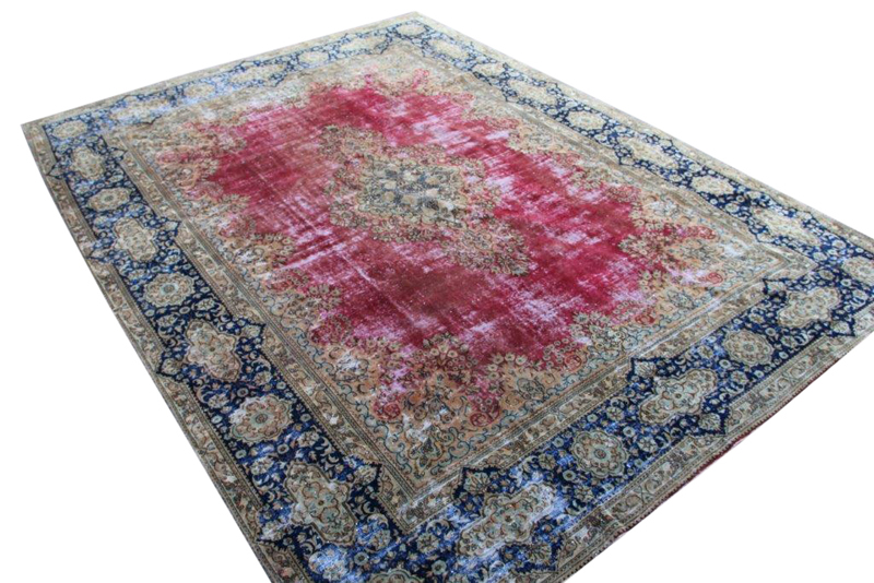 Vintage vloerkleed, rood, 396cm x 296cm
