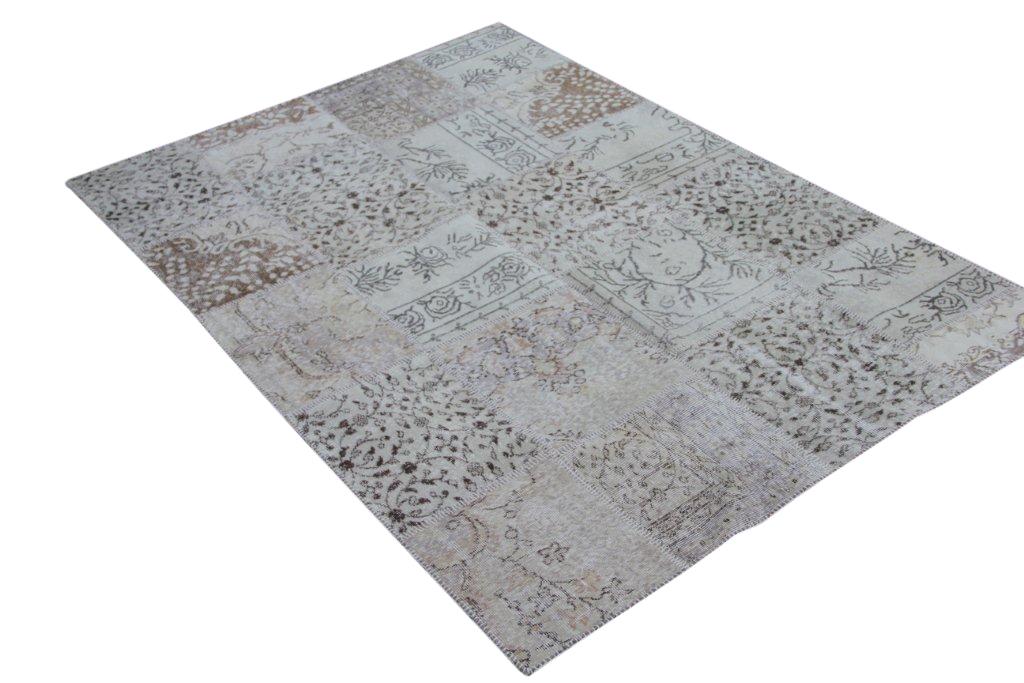 Licht patchwork vloerkleed 5346 (240cm x 170cm)