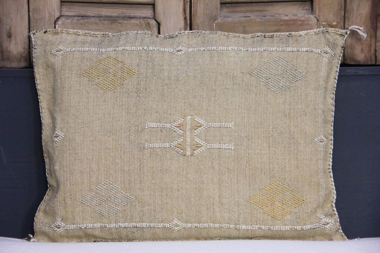 Sabra Kussen uit Marokko bruin 60cm x 40cm incl vulling nr.54047