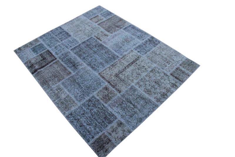 Patchwork vloerkleed, grijs, 212cm x 172cm