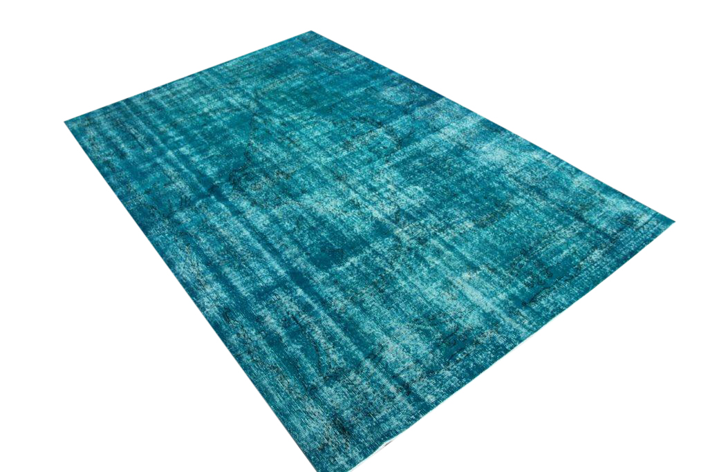 Vintage tapijt no 573 (316cm x 210cm) vloerkleed wat een nieuwe hippe trendy kleur heeft gekregen.