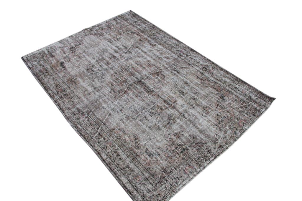 NIEUW BINNEN taupe versleten look vloerkleed  uit Turkije 238cm x 169cm, no 574