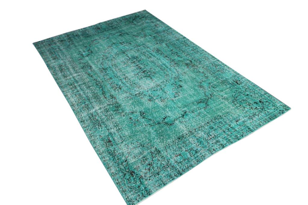 Groen blauw vloerkleed no 603 (303cm x 195cm) vloerkleed wat een nieuwe hippe trendy kleur heeft gekregen.