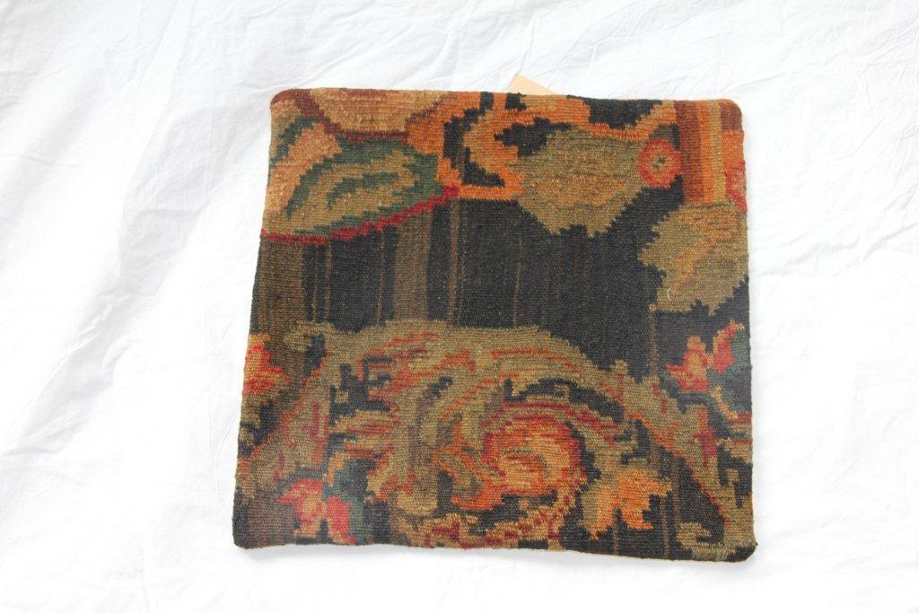 Kelim kussen no 604 (45cm x 45cm) Vintage kussen gemaakt van unieke rozenkelim