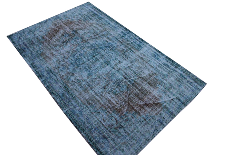 Vintage vloerkleed, blauw, 260cm x 160cm