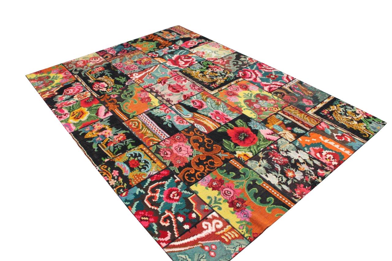 Rozen kelim patchwork  6155D (354cm x 254cm)  Reserved!!