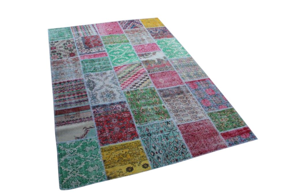 Patchwork vloerkleed uit Turkije  300cm x 200cm, no 6347