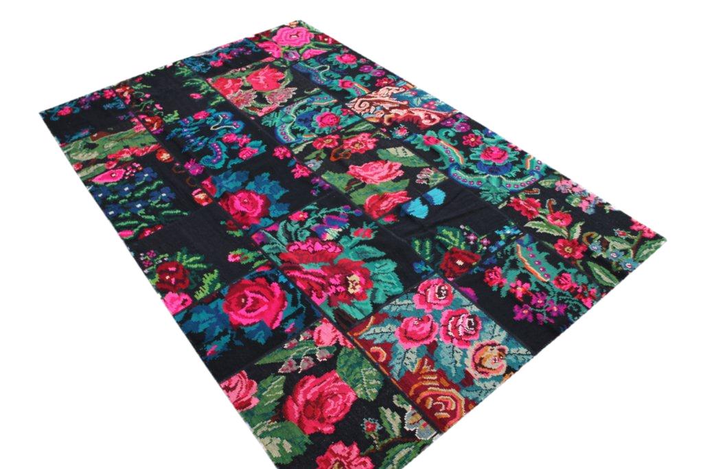 Patchwork vloerkleed, rozenkelim, 304cm x 204cm