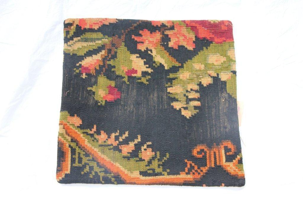 Kelim kussen no 651 (50cm x 50cm) Vintage kussen gemaakt van bloemen kelim uit Moldavie