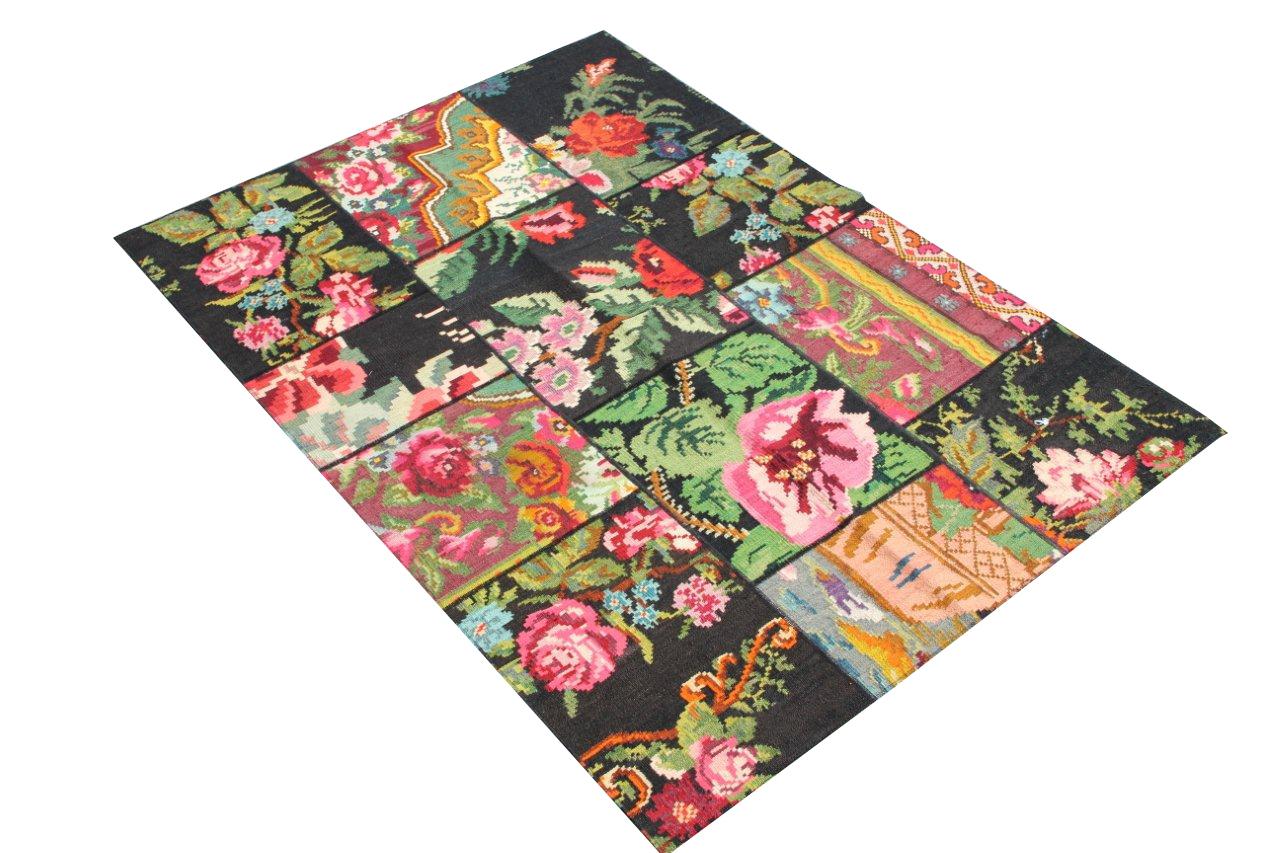 Rozen kelim patchwork  6516D (195cm x 131cm)