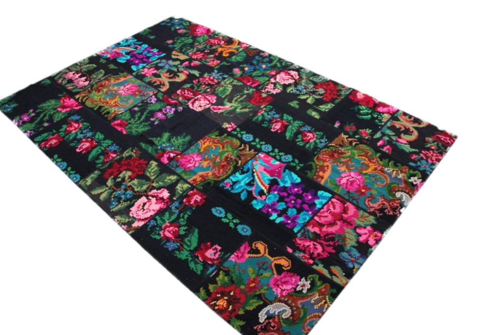Patchwork vloerkleed, rozenkelim, 308cm x 204cm