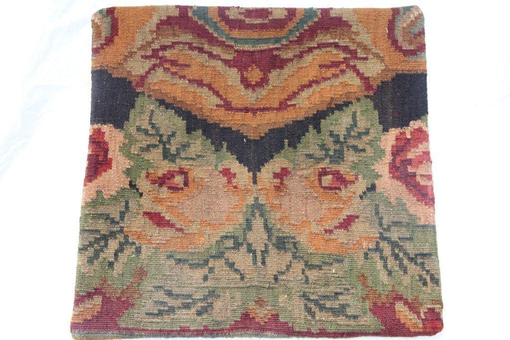 Kelim kussen no 658 (50cm x 50cm) Vintage kussen gemaakt van bloemen kelim uit Moldavie