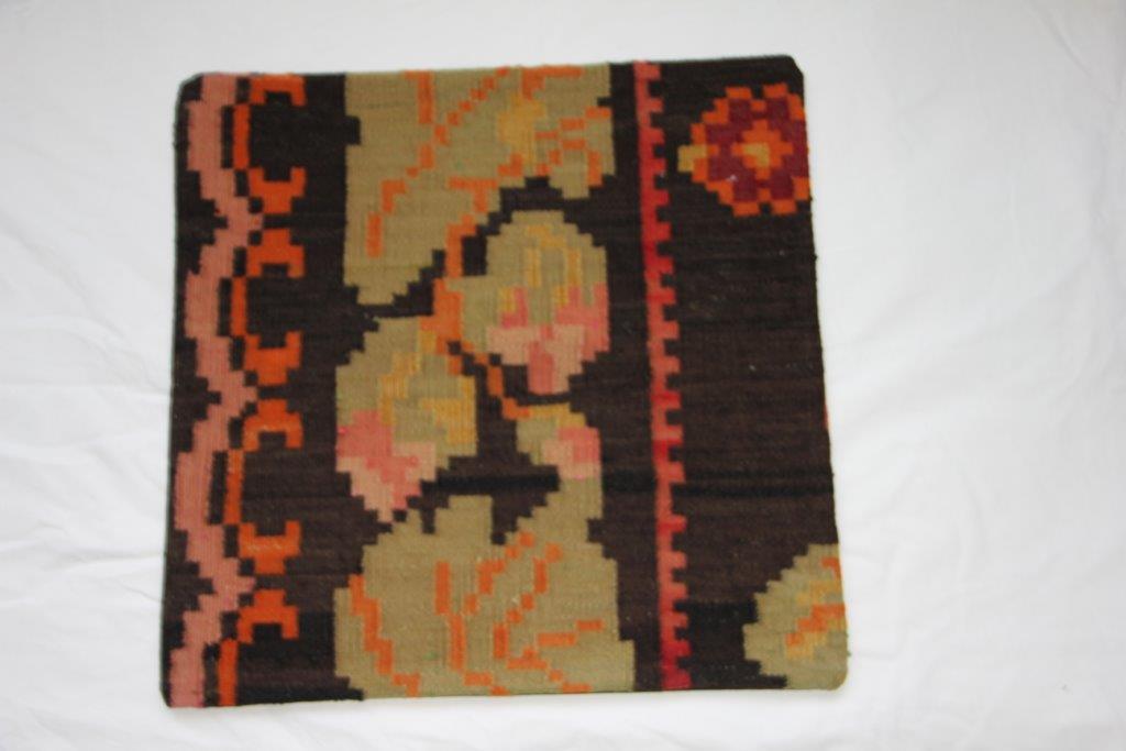 UITVERKOOP: Kelim kussen  50cm x 50cm, handgeweven uit Moldavië, no 661 (zonder binnen kussen)