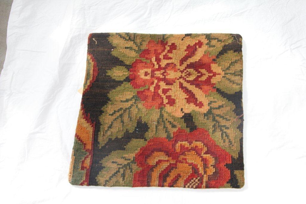 Kelim kussen no 667 (50cm x 50cm) Vintage kussen gemaakt van bloemen kelim uit Moldavie