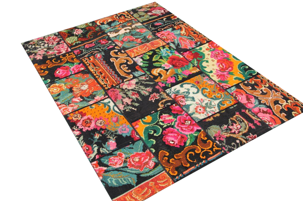 Kelim patchwork  6803  (243cm x 174cm) Verkocht!