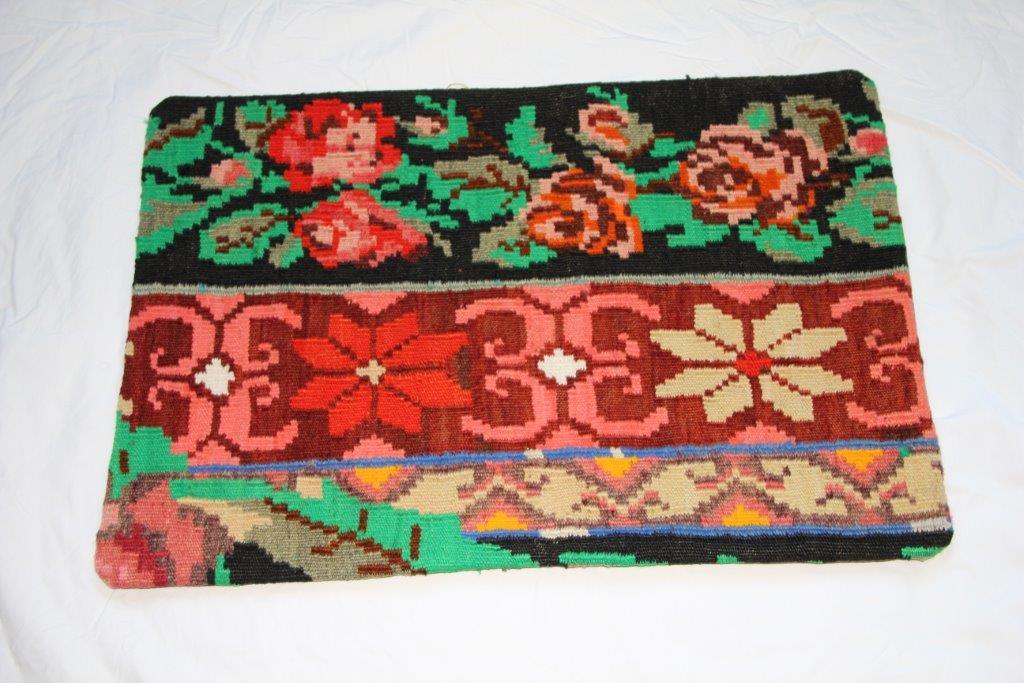 Kelim kussen  60cm x 40cm, handgeweven uit Moldavië, no 711 wordt geleverd incl. binnenkussen