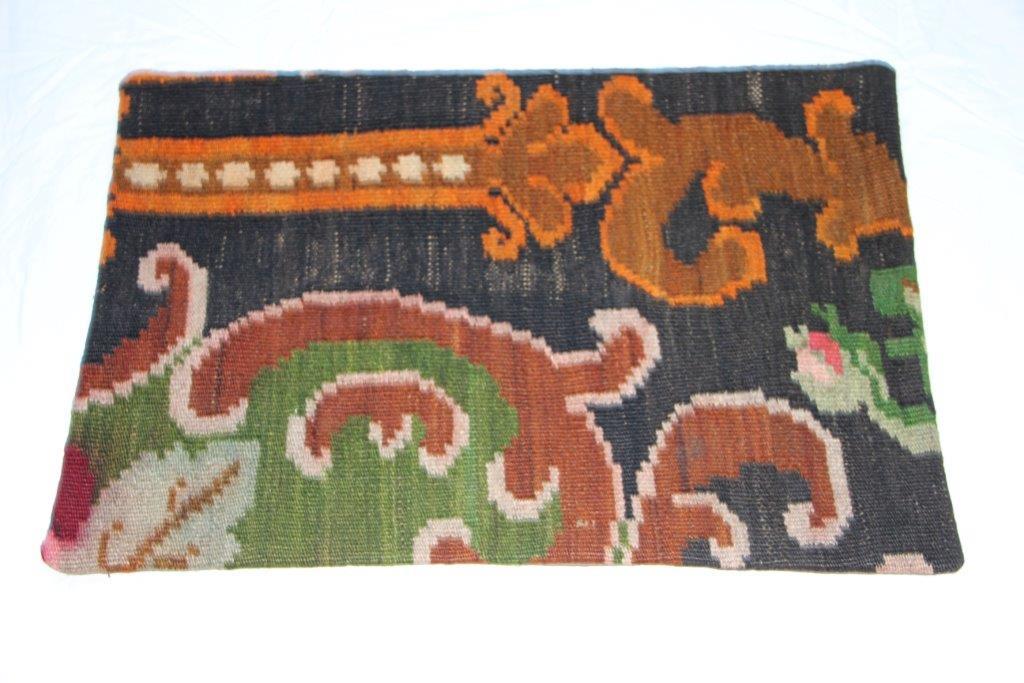 Kelim kussen  60cm x 40cm, handgeweven uit Moldavië, no 714 wordt geleverd incl. binnenkussen