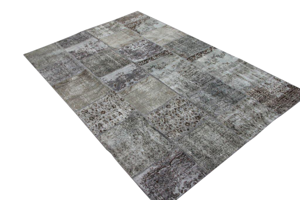 Grijs patchwork vloerkleed 7168 (300cm x 200cm)