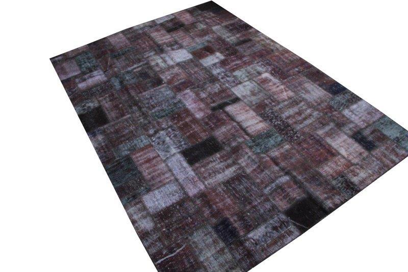 Patchwork vloerkleed, zwart, 298cm x 213cm