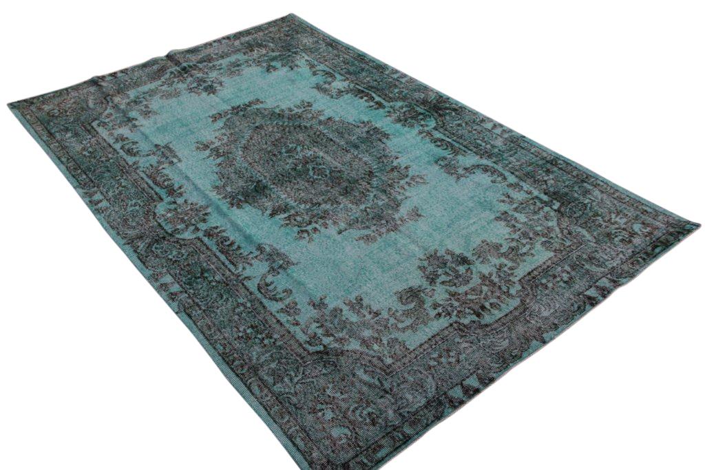 Blauw vintage vloerkleed  uit Turkije 295cm x 195cm, no 778