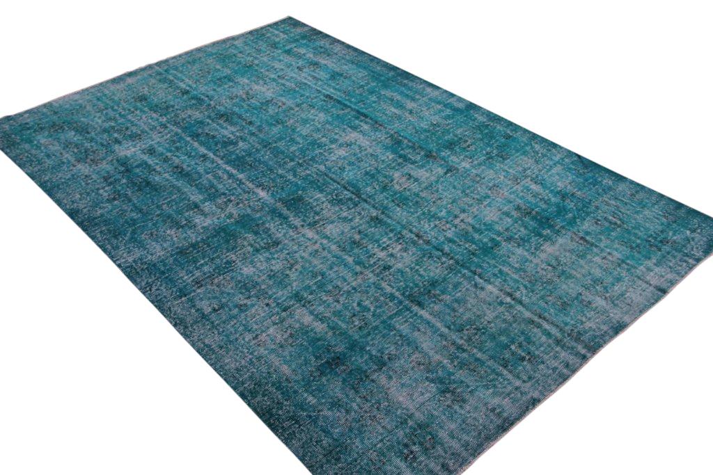 NIEUW INGEKOCHT blauw vintage vloerkleed  uit Turkije 314cm x 208cm, no 784