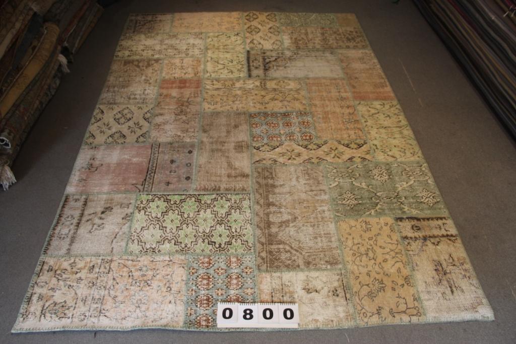 Vintage patchwork vloerkleed 800 (300 cm x 200cm) VERKOCHT!!
