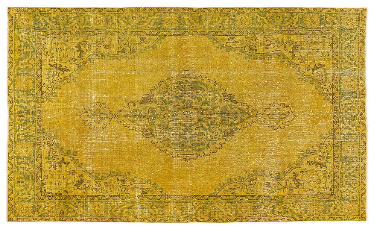 Vintage vloerkleed geel 8043 276cm x 163cm