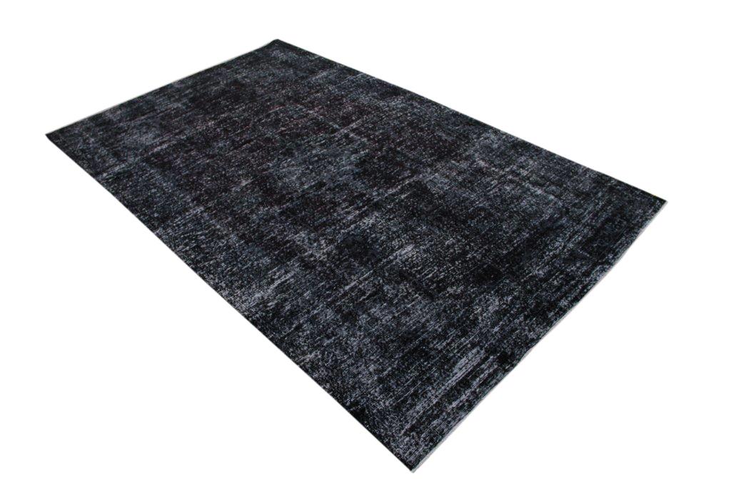 Recoloured zwart vintage vloerkleed  uit Turkije 322cm x 201cm, no 833