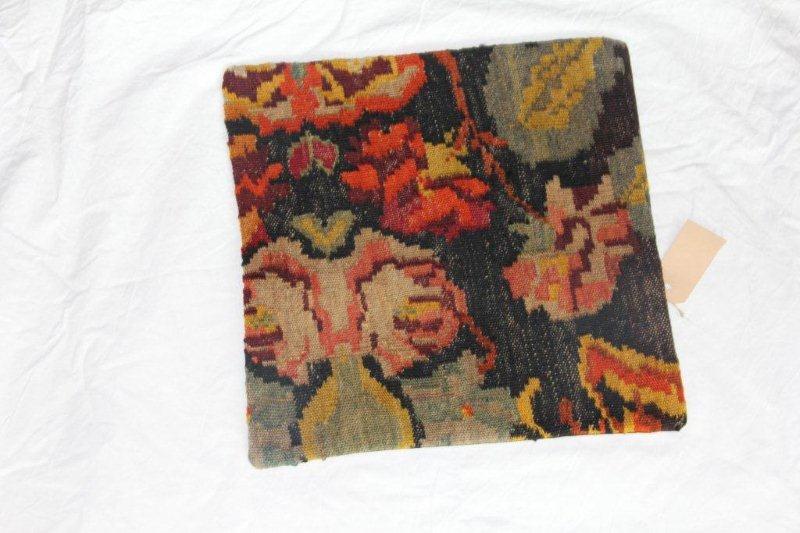 Kelim kussen no 859 (40cm x 40cm) Vintage kussen gemaakt van bloemen kelim uit Moldavie