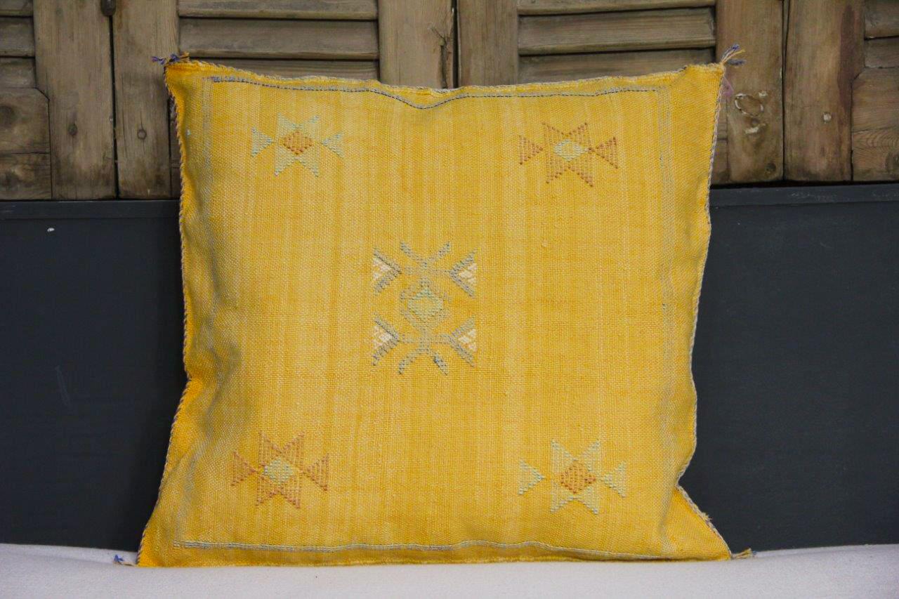 Sabra Kussen uit Marokko geel 45cm x 45cm incl vulling nr.88718