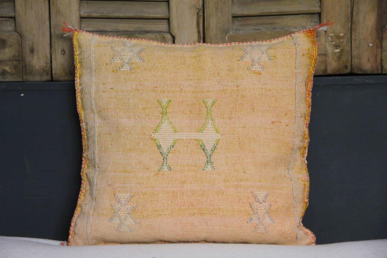 Sabra Kussen uit Marokko oranje 45cm x 45cm incl vulling nr.88723