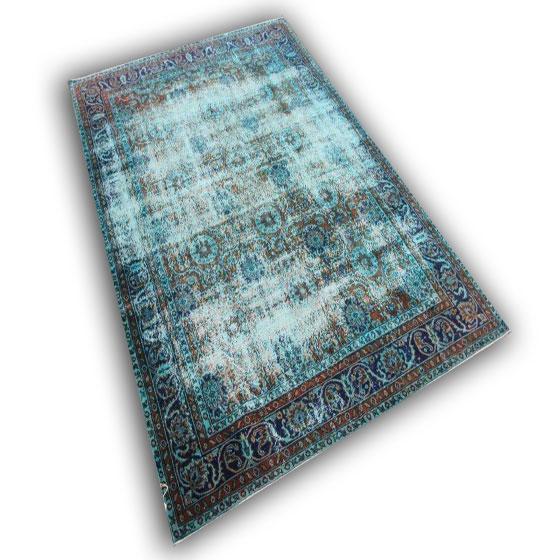 Vintage blauw tapijt 8873 (306cm x 212cm)
