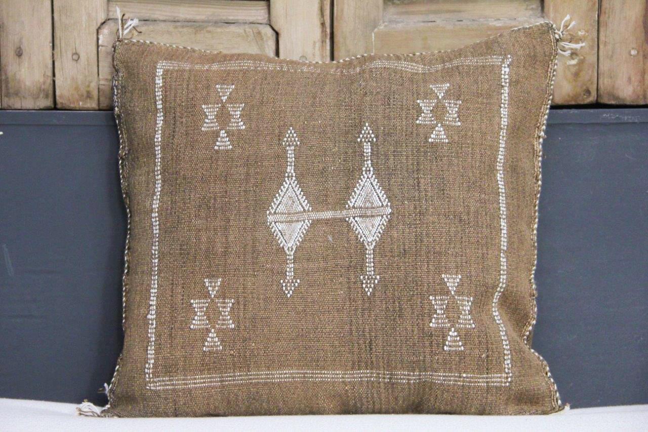 Sabra Kussen uit Marokko bruin 45cm x 45cm incl vulling nr.88730