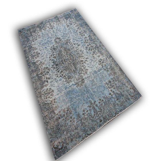 Vintage grijs blauw tapijt 8884 (256cm x 168cm)