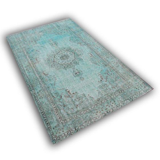Lichtblauw vloerkleed 9470 (295cm x187cm)
