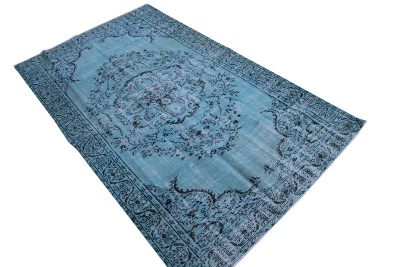 Blauw Vintage vloerkleed nr 961 (300cm x 177cm)