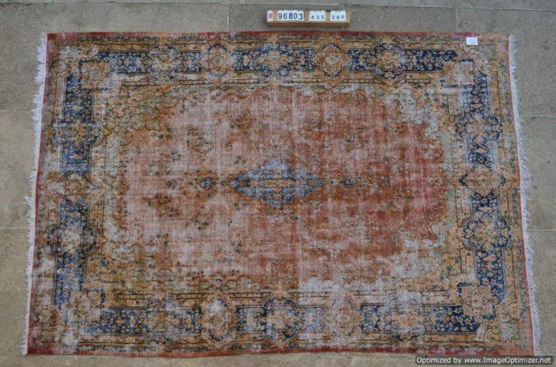 Groot vintage vloerkleed 435cm x 290cm  (nr96803)