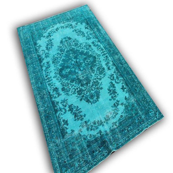 Blauw vintage vloerkleed 9854 (263cm x 170cm)