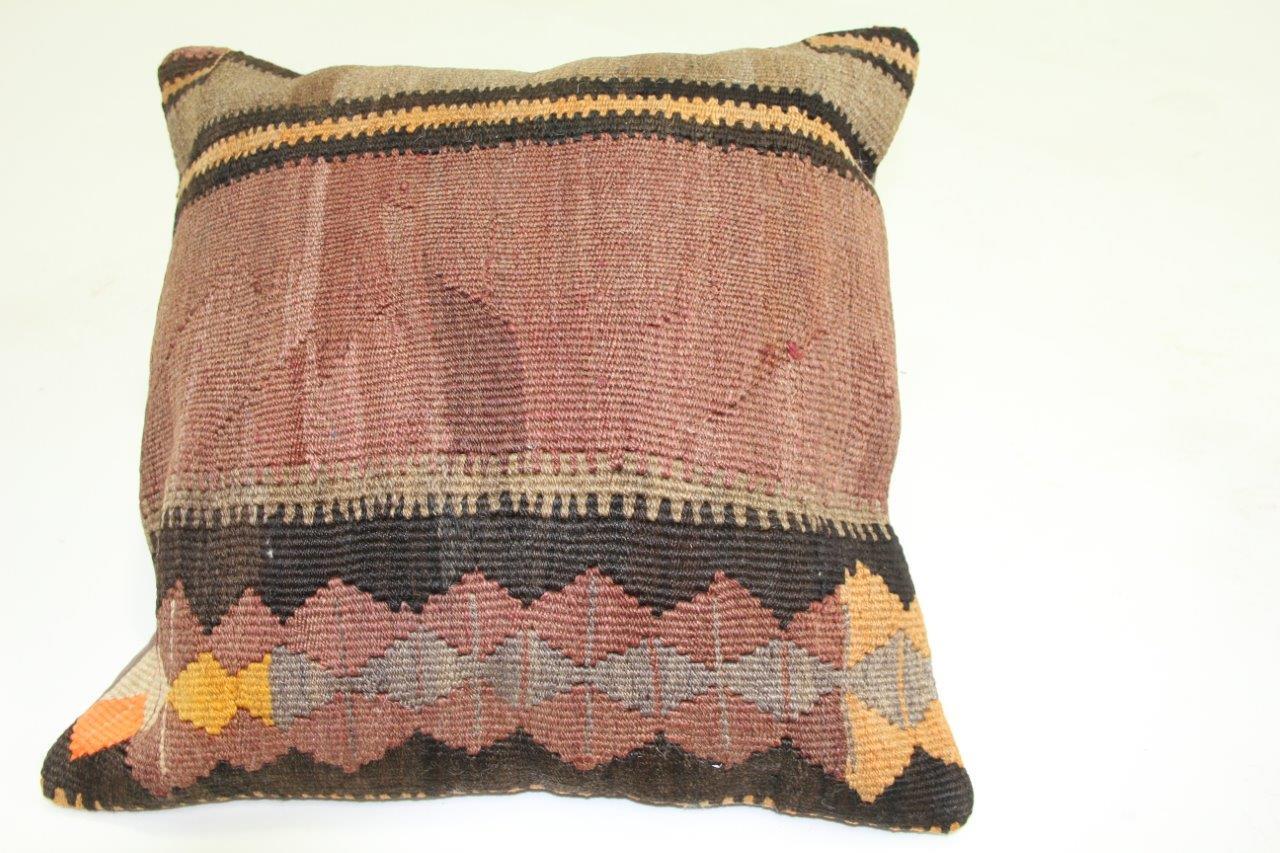 Afbeelding van Kussen gemaakt van kleed uit anatolie 50cm x 50cm incl binnenkussen katoenen achterkant (beige)