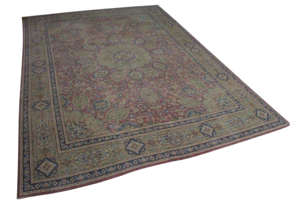Antiek perzisch vloerkleed 388cm x 288cm