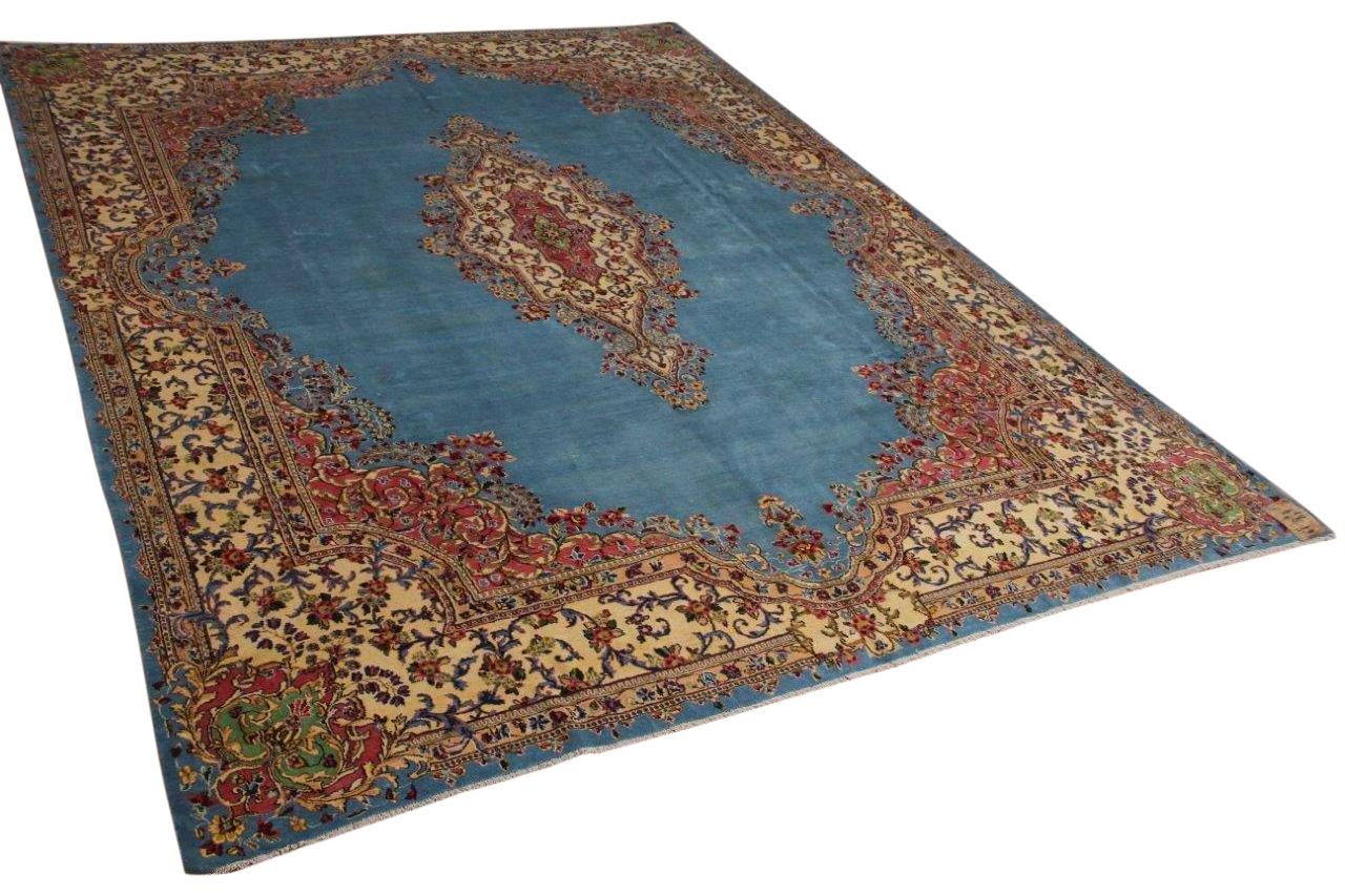 Afbeelding van 50 jaar oud perzisch vloerkleed 390cm x 300cm ongeschoren