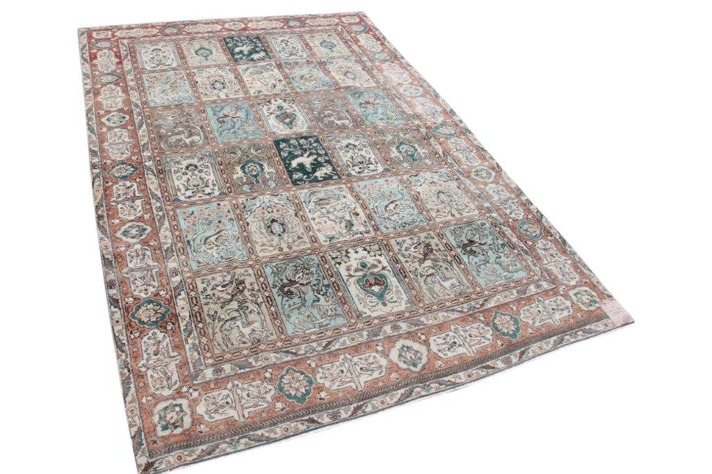 Afbeelding van Antiek perzisch vloerkleed 13411 313cm x 219cm 80-90 jaar oud
